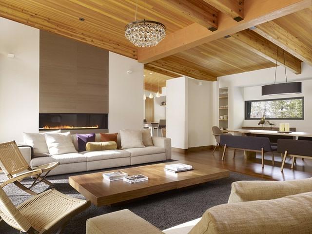 Wohnzimmer Einrichten Ideen Modern - Boisholz Wohnzimmer Ideen Dachschrage
