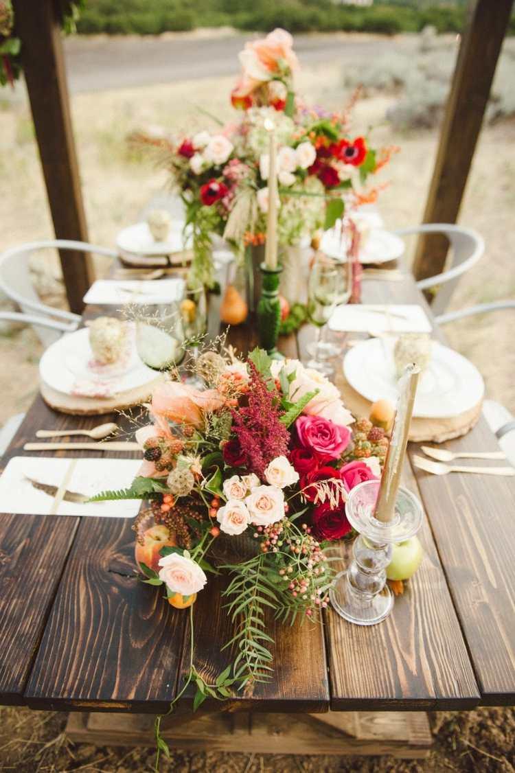 Bezaubernde Tischdeko im Herbst fr besondere Anlsse