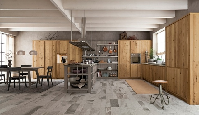 Kuche Im Landhausstil Modern Rustikal Holz Moebel – edgetags.info