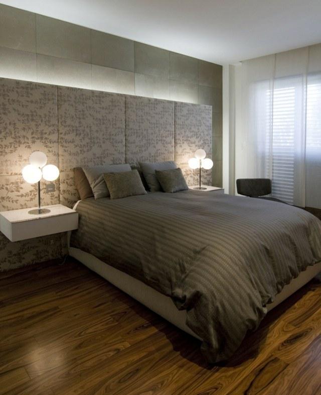 Schlafzimmer Farbgestaltung Tone Tapete Und High End Betten ...