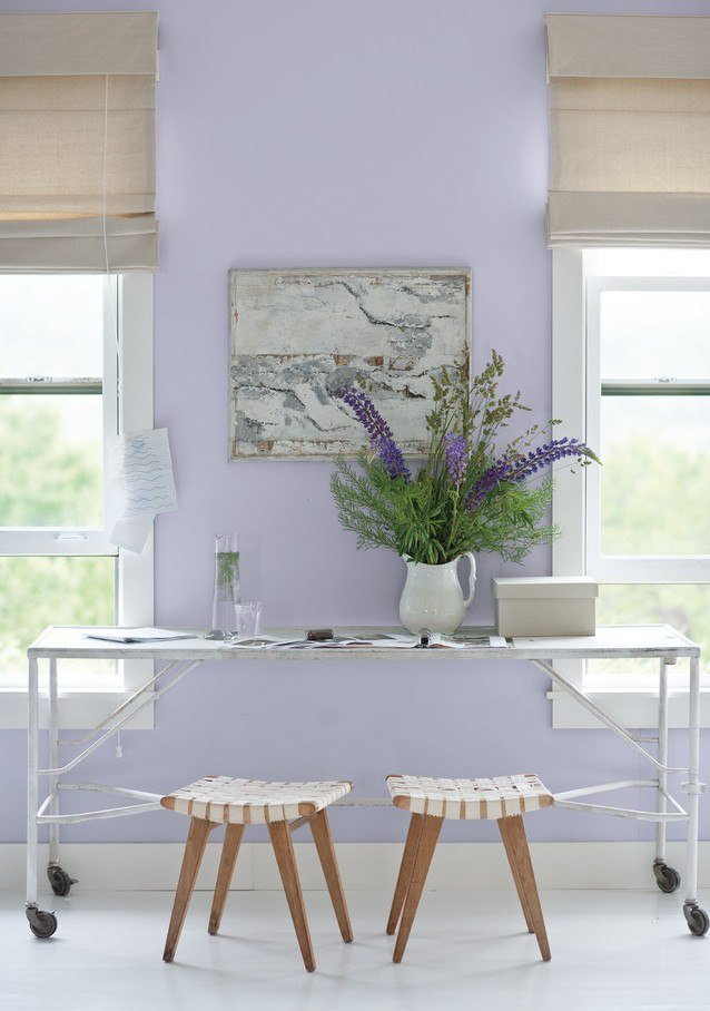 Wandgestaltung mit lila Farbe 25 moderne InterieurBilder