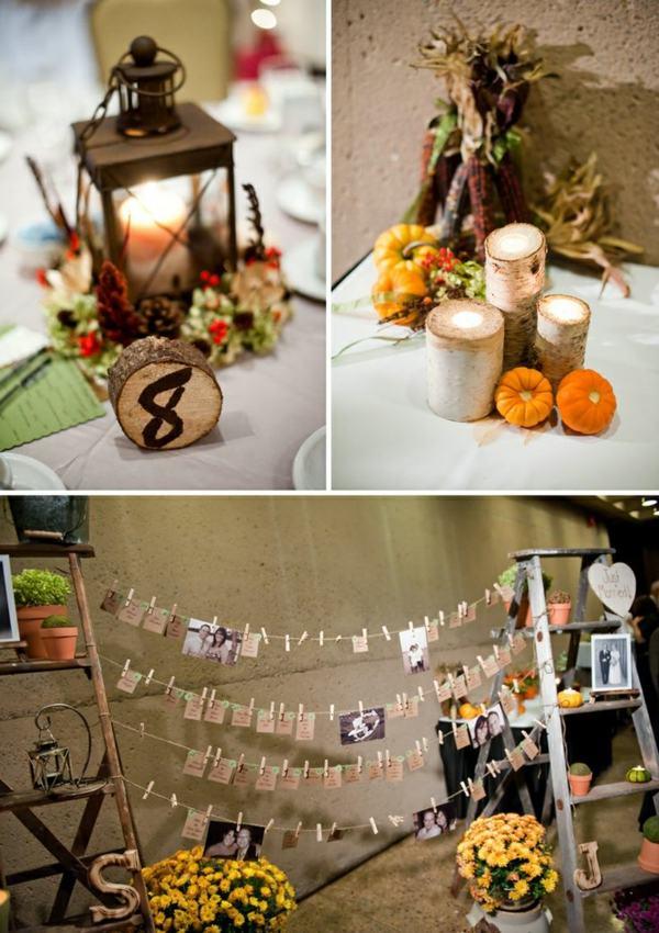 Hochzeit im Herbst Eine Farbpalette mit herbstlichem Flair