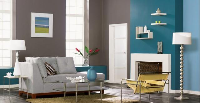 wohnzimmer wandfarbe petrol ideen - boisholz, Modern Dekoo