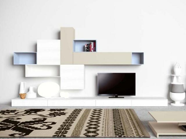 kleines wohnzimmer mit essbereich modern einrichten beige wei, Mobel ideea