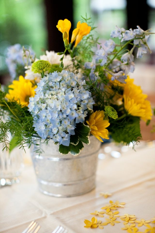 Blumen Tischdekoration  30 Ideen zur Hochzeit im Frhling