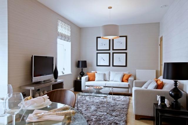 wohnzimmer inspirationen kleines wohnzimmer einrichten mit sofa ... - Kleine Wohnzimmer Einrichten Ideen