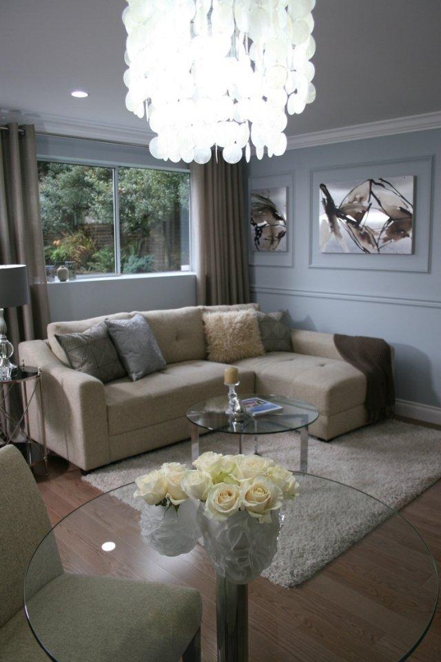 wohnzimmer modern einrichten weisse wohnwand klein kleines ... - Wohnwand Modern Klein