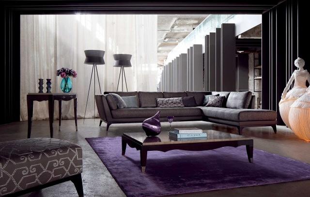 ligne roset nomade sofa denim sectional with chaise moderne möbel im wohnzimmer- design und armsessel