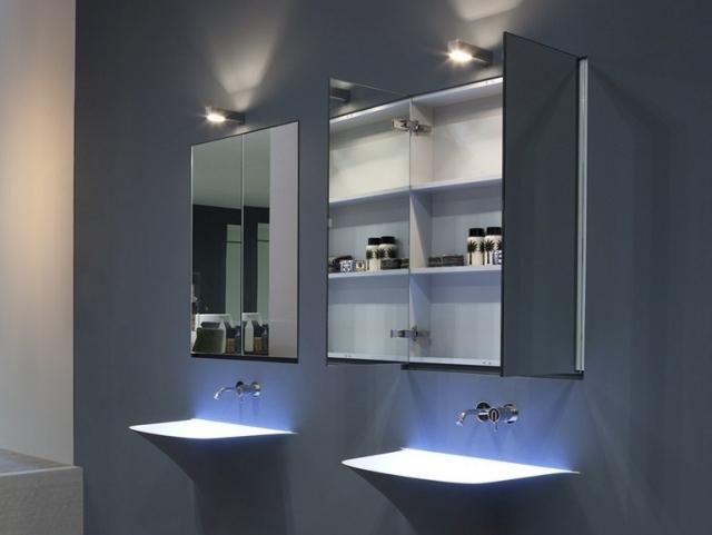 Badezimmer Spiegelschrank passend zum trendy Wohnstil