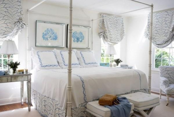 blue and white vintage bedroom Jugendzimmer-Einrichtungsideen aus 100 Wohnwelten