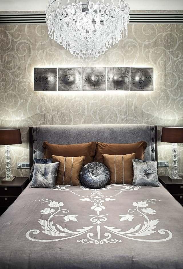 Modernes Schlafzimmer Wand Dekorieren Tapete Blumenmuster Braun, Modern  Dekoo