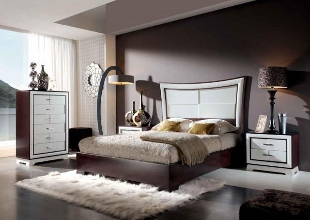 braune wandfarbe schlafzimmer | möbelideen