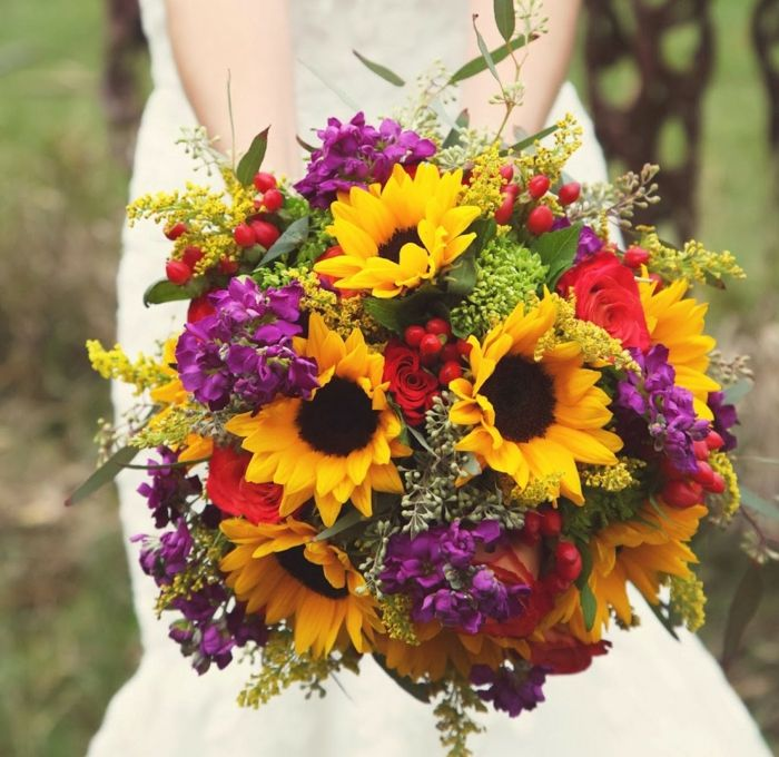 Brautstrau im Herbst  69 tolle Ideen fr die Hochzeit