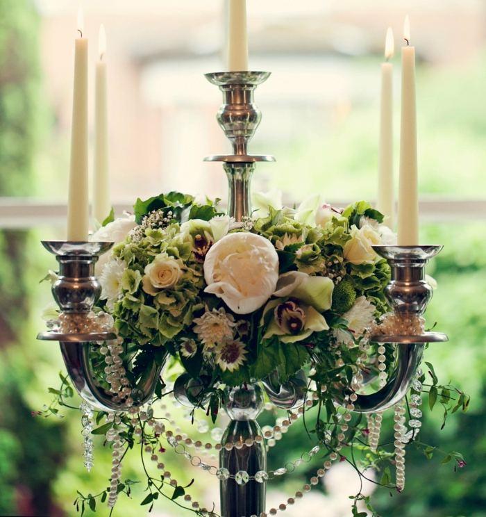 Vintage Hochzeit Deko  Perlen sorgen fr Romantik