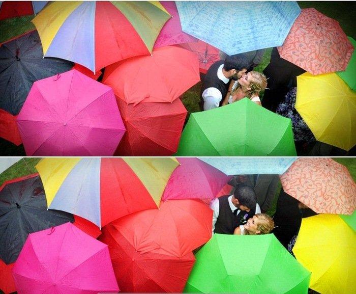 Hochzeit im Regen  wie Sie die Herausforderung meistern
