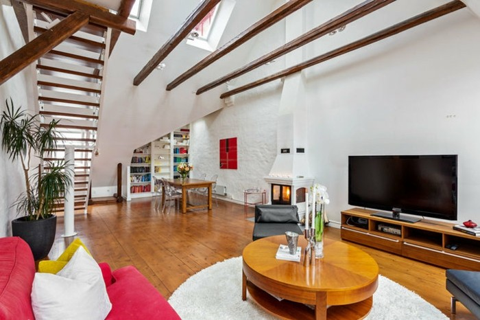 sofa erstellen t shaped slipcover wohnzimmer einrichtung ideen – raum mit dachschräge
