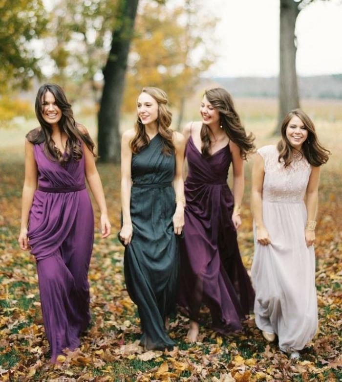 30 Ideen frs Kleid der Brautjungfern fr eine HerbstHochzeit