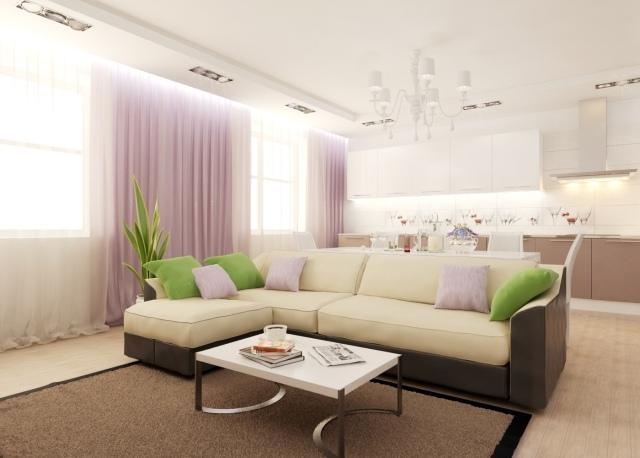 wohnzimmer ideen wandgestaltung lila schone besten on ideen ... - Wohnzimmer Braun Creme