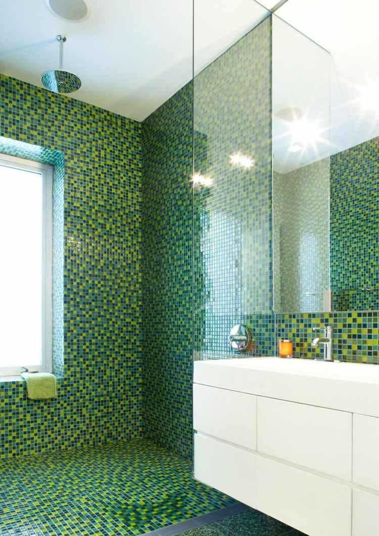 Mosaik Fliesen fr Bad Ideen fr Betonung einzelner Bereiche