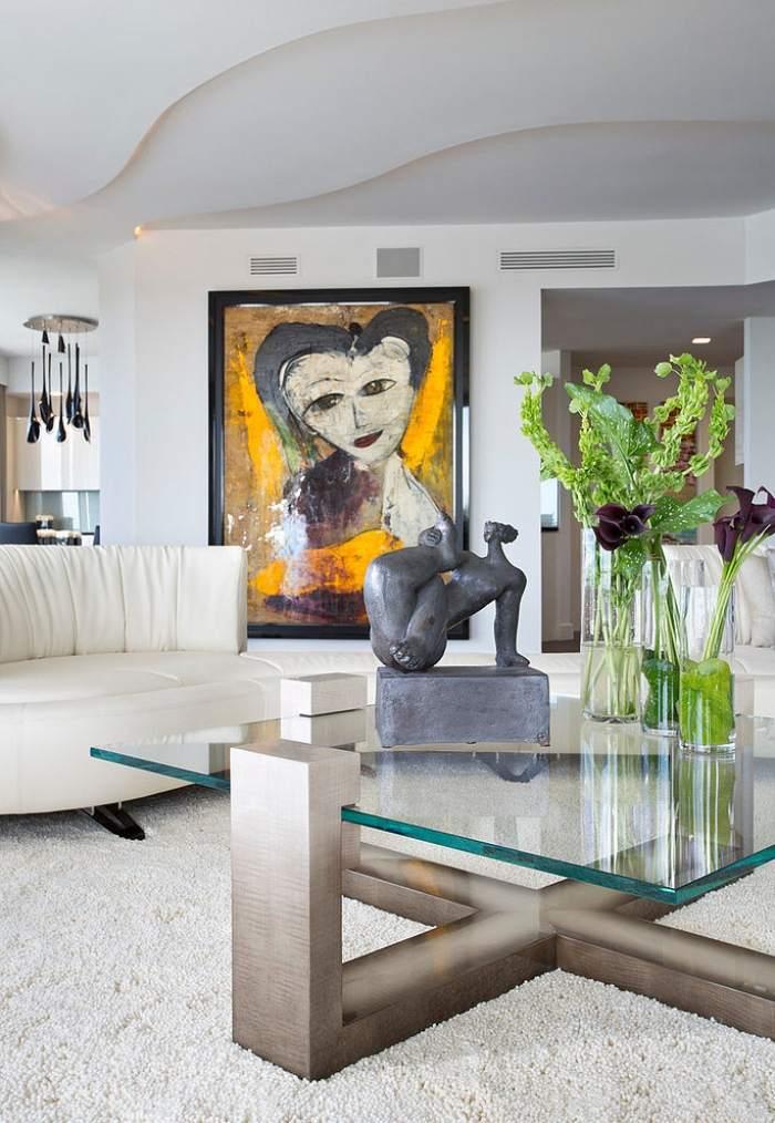 kleines wohnzimmer einrichten moderne mobel wei e couch hocker, Mobel ideea