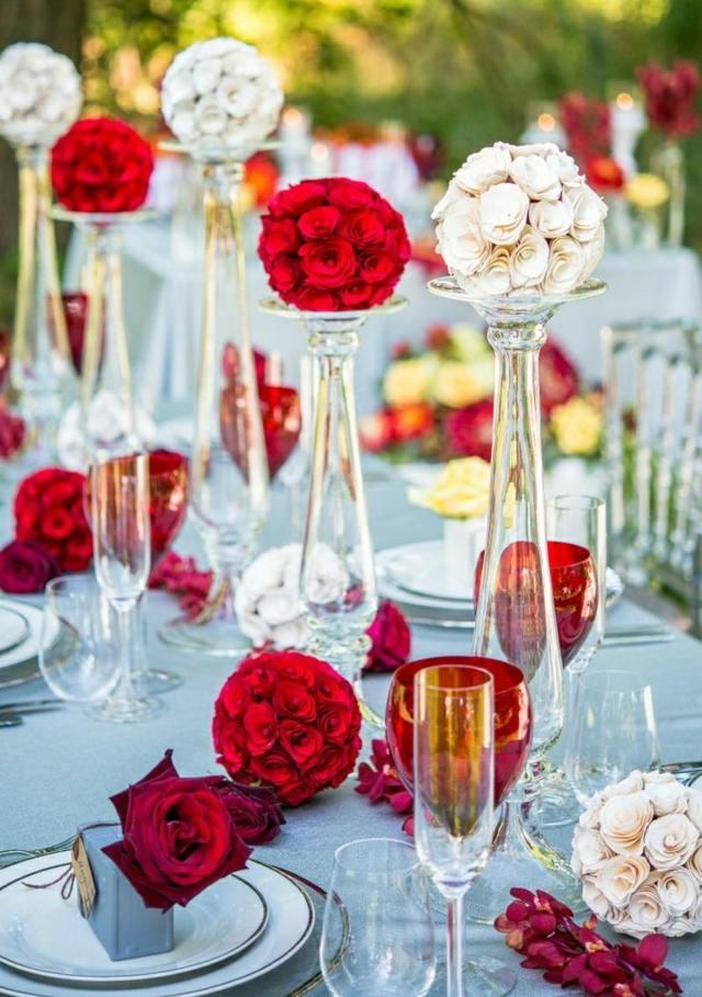 Sommer Tischdekoration fr eine wundervolle Hochzeit