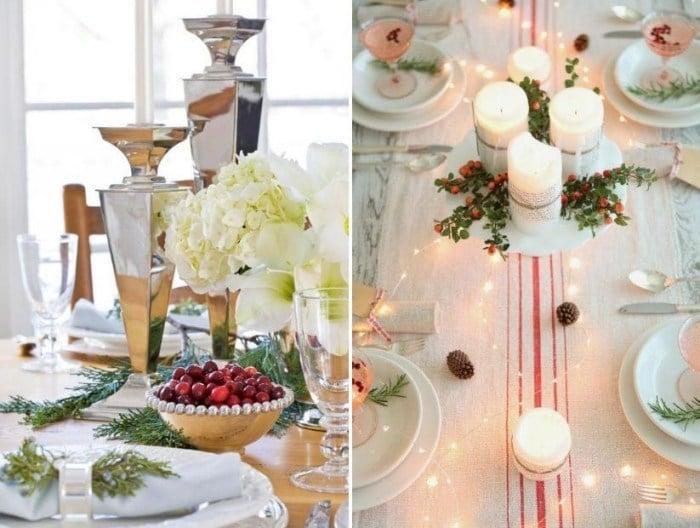 Tischdekoration zu Weihnachten mit 48 Bildern als Inspiration