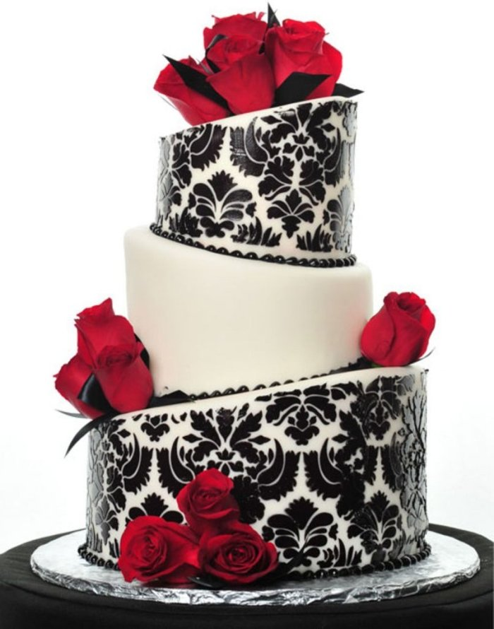 Schwarze Hochzeitstorte  Originelle Idee fr den Empfang