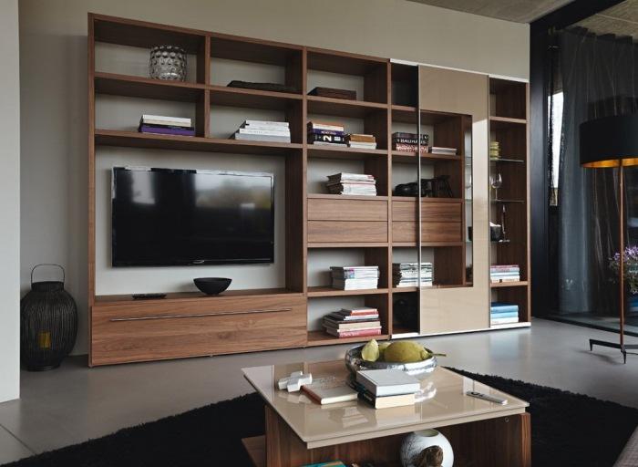 wohnwand modern hulsta - boisholz, Mobel ideea