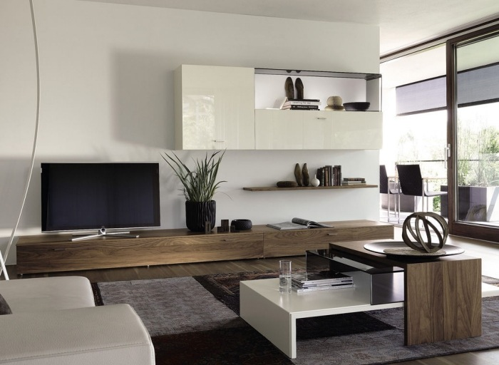 Top Top Interior Designer And Tv Fireplace Wall - Boisholz Moderne Wohnzimmermobel