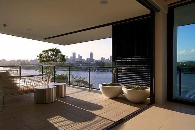 PenthouseWohnung mit formal reduziertem Design