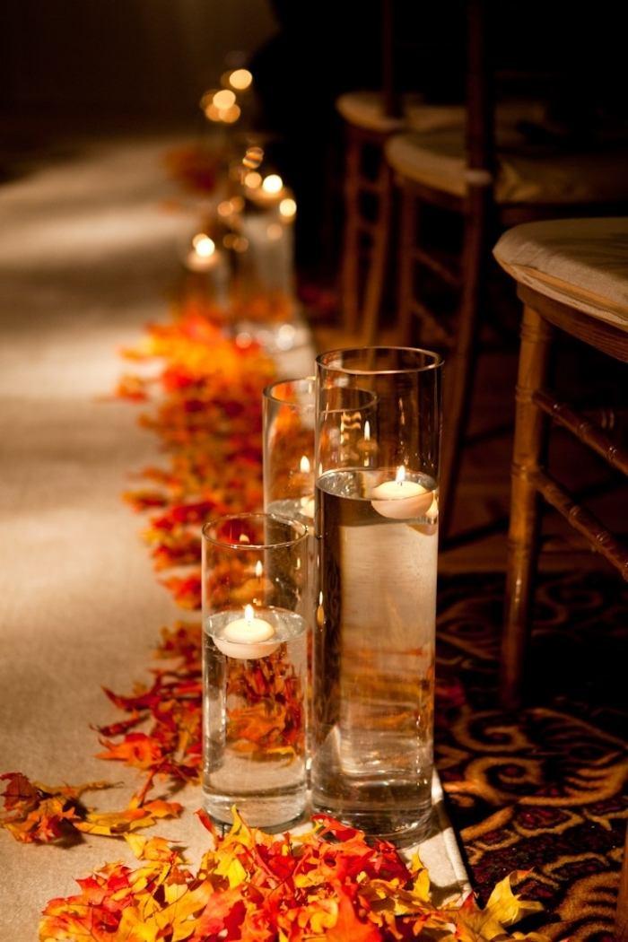 Hochzeitsdeko Ideen fr Romantik auf dem Weg zum Traualtar