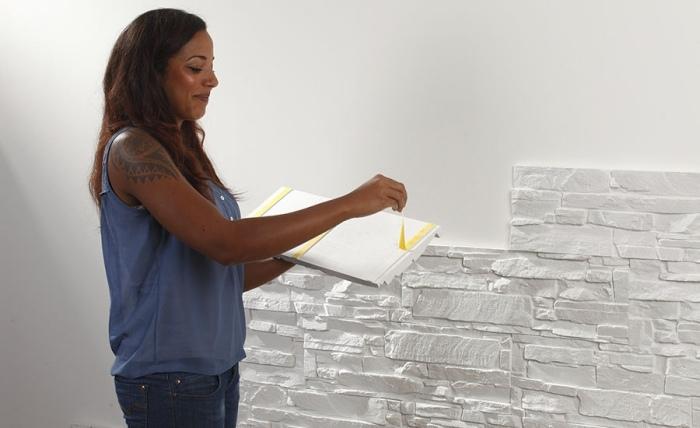 Steinwand im Wohnzimmer  30 Inspirationen von Klimex