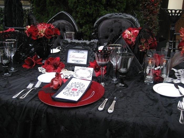 Vampir Hochzeit  Tipps und tolle Ideen fr die Dekoration