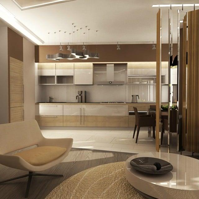 interieur und design ideen fr zuhause kche wei braune