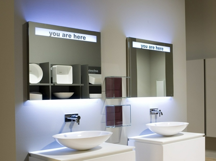 Badezimmerspiegel mit Beleuchtung frs Bad ohne Fenster