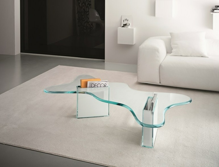 Elegant Mobel Couchtisch Aus Glas Beistelltisch Akzent L ..