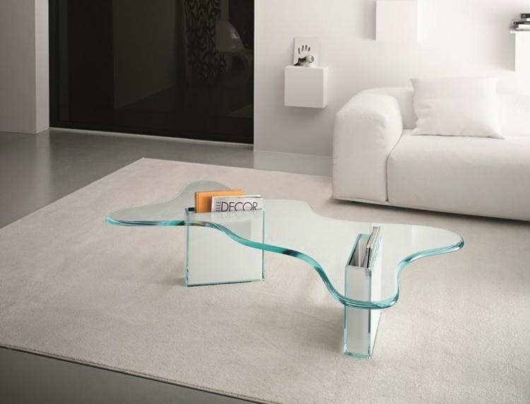 Couchtisch Aus Glas Beistelltisch Akzent - Design