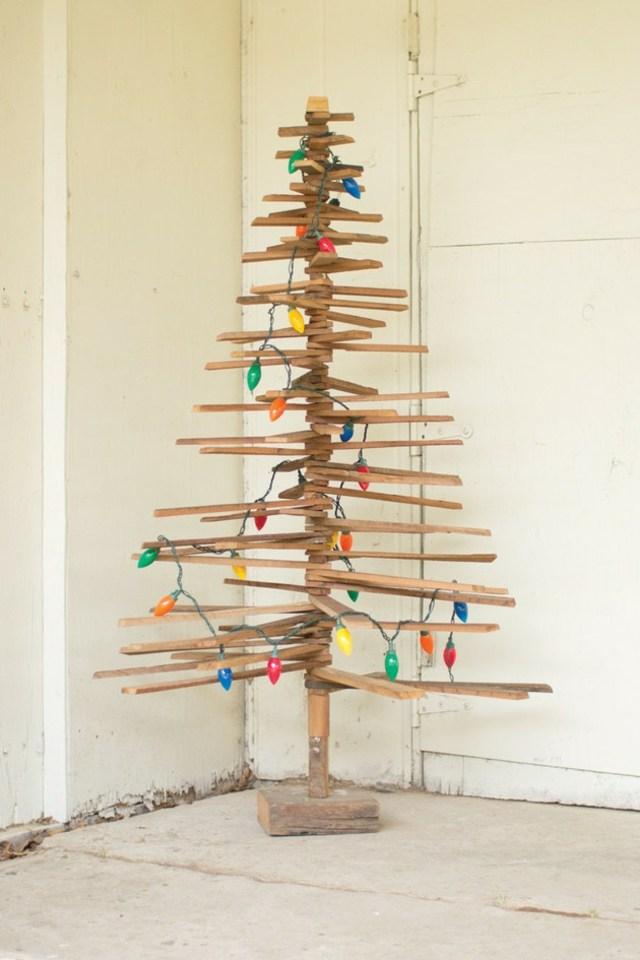 Weihnachtsbaum aus Holz ko freundlich der Natur zuliebe