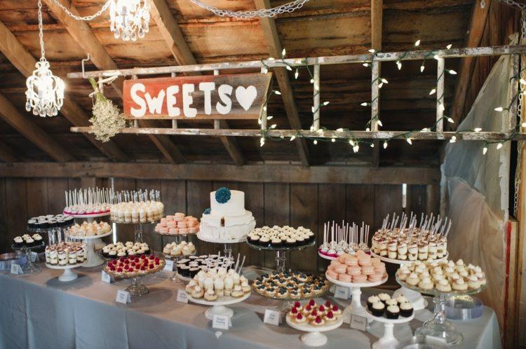 Dessert Bar fr die Hochzeit im Herbst gestalten