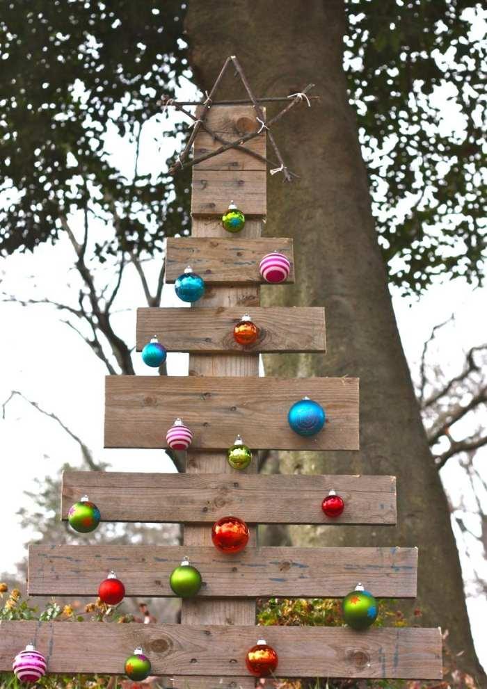 Weihnachtsdeko fur ausen aus holz - Felssteine fur den garten ...