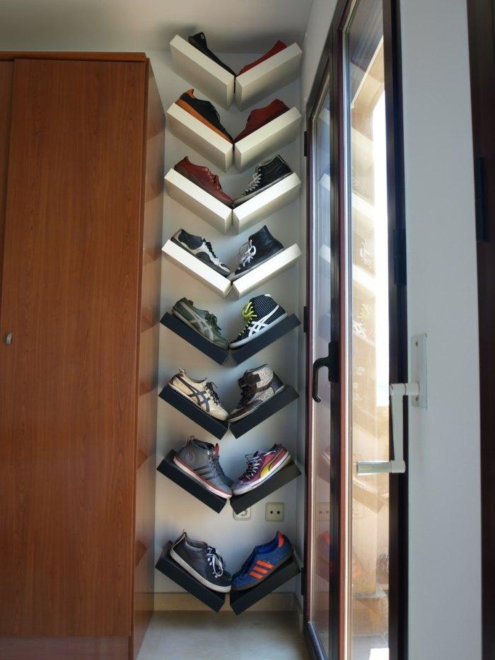 Schuhregal selber bauen  coole Ideen und Anleitungen