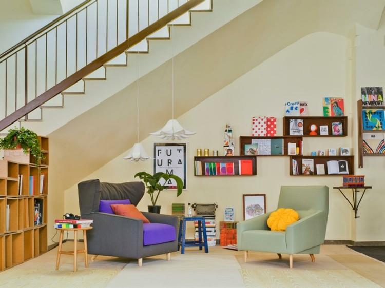 Wohnzimmer Retro Stil Startseite Design Bilder