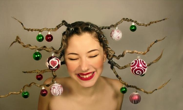 31 Frisuren Für Weihnachten Lustige Und Festliche Ideen