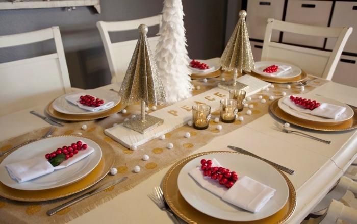 Tischdeko zu Weihnachten  35 festliche Ideen fr die Tafel