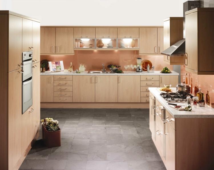 Küche Eiche Hell Welche Wandfarbe | Schreibtisch ...