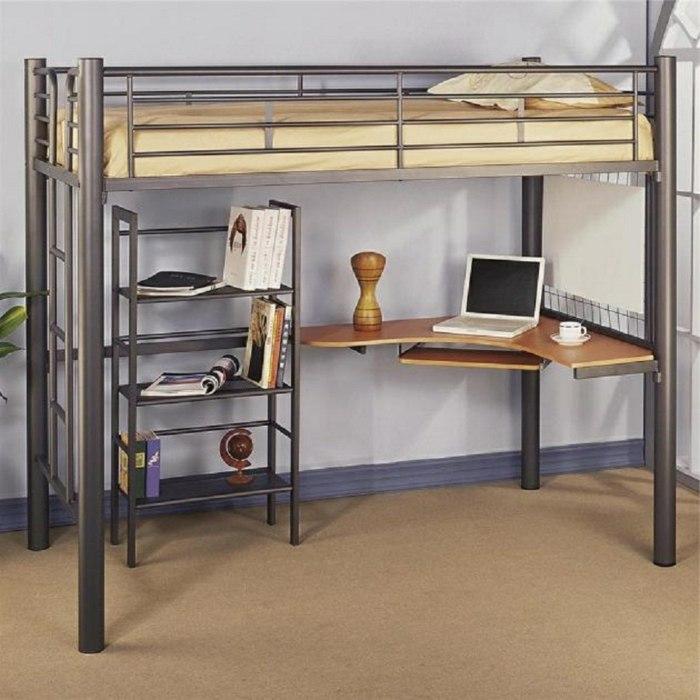 ... Hochbett Mit Schreibtisch Für Kinder Und Erwachsene ...