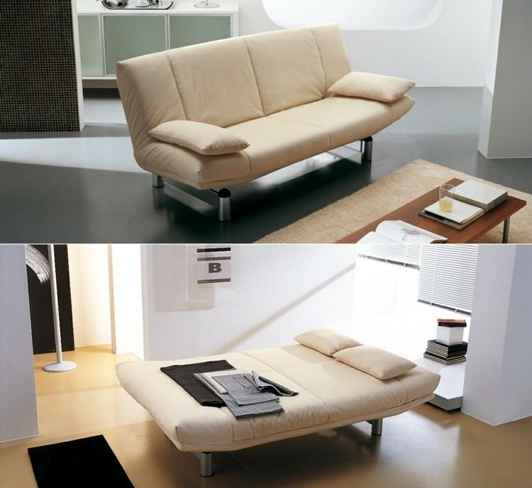Schlafsofas fr kleine Wohnzimmer  kompakte Schlafcouch