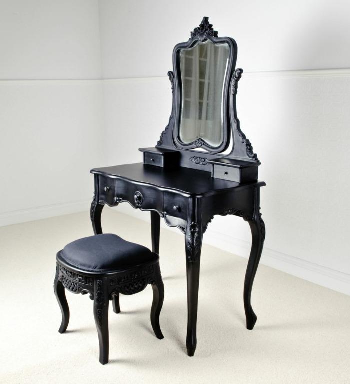 schminktisch in schwarz ideen - boisholz, Möbel