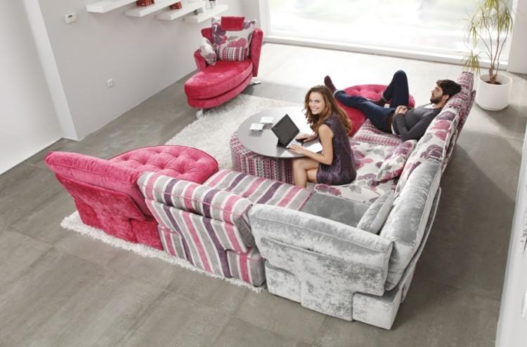 Wohnlandschaften mit Bettfunktion  Sofa in XXL  Variant