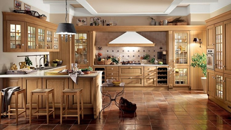 Italienische Landhauskchen  20 charmante Gestaltungen